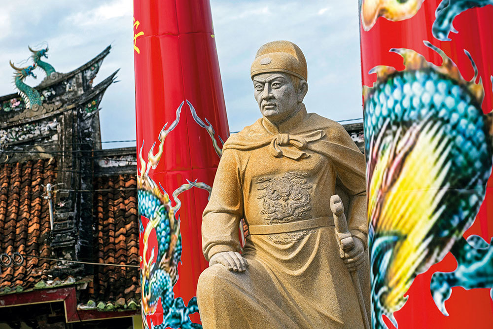 A statue of Zheng He in Indonesia