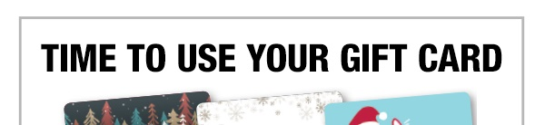 Shop with Your Gift Card