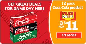 Coke 12 packs, 3 for $11!