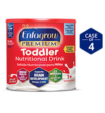 Enfagrow PREMIUM Toddler Nutritional Drink, Natural Milk Flavor, Powder (Case of 4)