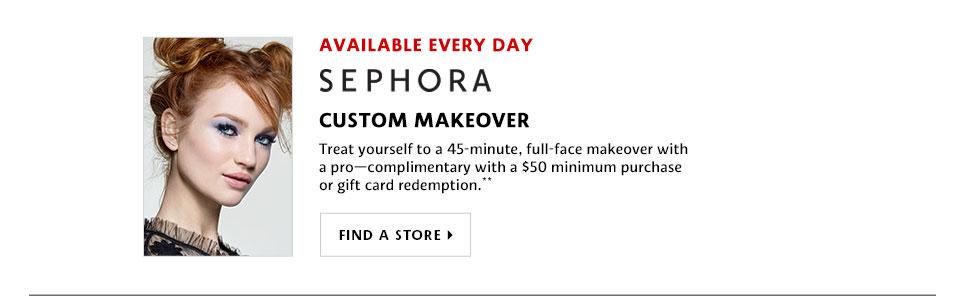 Sephora Custom Makeover Find A Store >