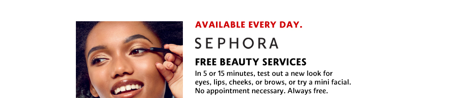 fREE BEAUTY SERVICES