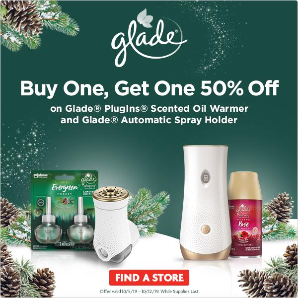 BOGO 50% Off Glade !