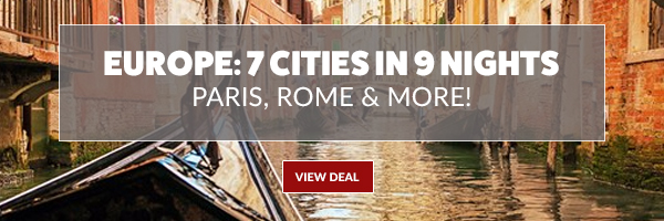 Europe: 7 Cities in 9 Nights, Save $249